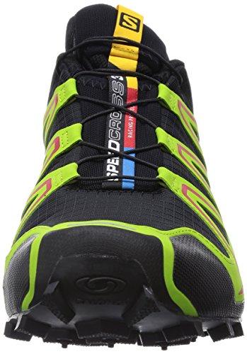 Salomon Speedcross 3, Chaussures de Running Compétition Homme multicolore (Black/Granny Green/Rd)
