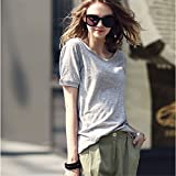 TAIDUJUEDINGYIQIE Frauen Kurzarm T-Shirt Sommer Solid Color Lose -