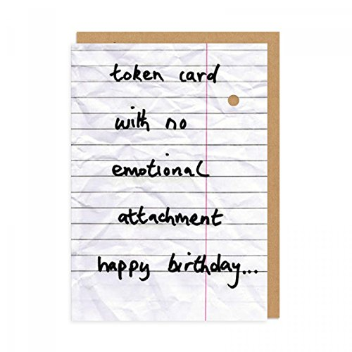 token-no-emotional-attachment-greeting-card