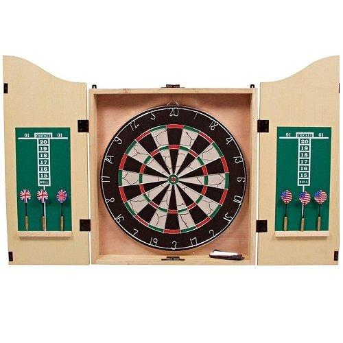 Weiblespiele 065013 - Dartspiel in Kabinet, inklusiv Zubehör