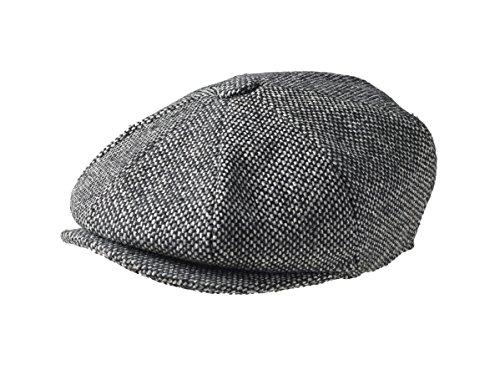 peaky-blinders-8-pezzi-stile-newsboy-flat-cap-100-tessuto-di-lana-variations-black-birds-eye-tweed-l