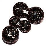 JPTsports Premium Faszien-Ball 3er-Set | optimale Behandlung von Muskeln & Bindegewebe | Massageball-Set aus hochwertigen Einzelball (10cm) & Duo Bälle (8cm & 12cm)