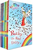 Rainbow Magic - Series 1 Colour Fairies Collection 7 Books Pack Set (Books 1 to 7 - Titles Are Ruby The Red Fairy, Amber The Orange Fairy, Saffron The Yellow Fairy, Fern The Green Fairy, Sky The Blue Fairy, Izzy The Indigo Fairy, Heather The Violet Fairy)