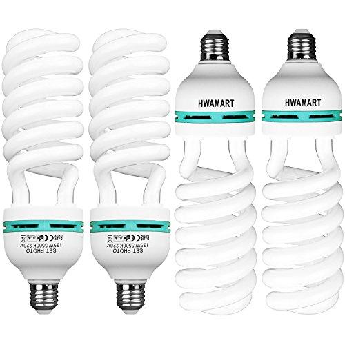 Fotografie 4x135W E27 Daylight Weiß Beleuchtung-Lampen-Birnen 5500K -