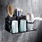 Haar Trockner Halter Platz Aluminium Retro schwarz Fön, Bad/WC Haartrockner Regalböden Badezimmer Zubehör