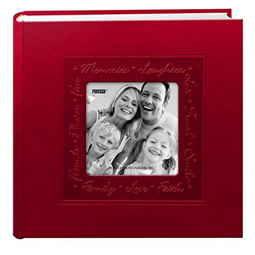Pioneer geprägt Script Rahmen-Cover Foto Album, rot (Archivierung Foto-speicher)