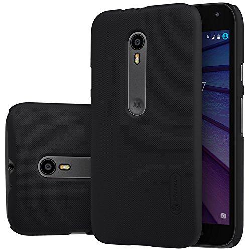 SGC NILLKIN FROST Shield Hard Dotted Bumper Back Case Cover, Free Screen Guard For Motorola Moto G3 3rd Generation-Black + Free Stylus