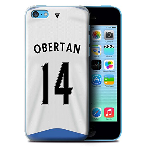 Offiziell Newcastle United FC Hülle / Case für Apple iPhone 5C / Pack 29pcs Muster / NUFC Trikot Home 15/16 Kollektion Obertan