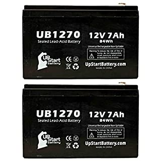 2x Pack - Replacement Altronix PT724AE Battery - Replacement UB1270 Universal Sealed Lead Acid Battery (12V, 7Ah, 7000mAh, F1 Terminal, AGM, SLA) - Includes 4 F1 to F2 Terminal Adapters