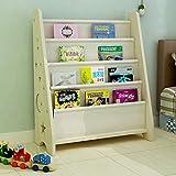 Bücherregale HUO Kinder Massivholzboden Kindergarten Baby Bild Buch Stehen Cartoon Haushalt Rack-62 * 28 * 76 cm (Farbe : B)