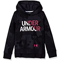 Under Armour Rival Sudadera con Capucha para niña, niña, 1317839-001, Black/Penta Pink, Youth Medium