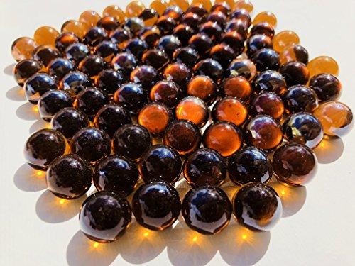 Goldene Gold Braun Glasmurmeln Glaskugeln 16mm Durchmesser 500gr Dekokugeln durchsichtig kupfer farbene goldene klare Murmel Dekoglaskugel Dekoration Glaskügelchen von CRYSTAL KING