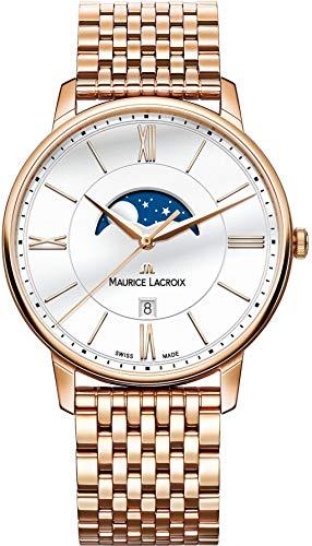 Maurice Lacroix Herren Analog Quarz Uhr mit Edelstahl Armband EL1108-PVP06-112-1