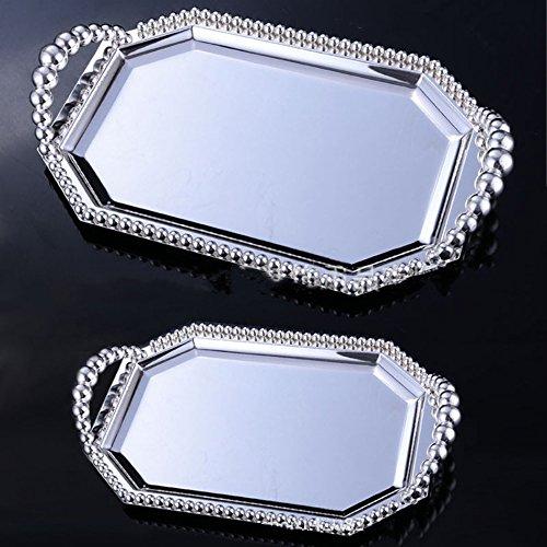 VUKUB Metall Antike Kuchenplatte Rund Gebäck Stand Dessert Display Tisch Hochzeitsdekoration,S