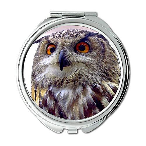 Yanteng Spiegel, Reise-Spiegel, Eulenfarm-Eulenvogel, Taschenspiegel, tragbarer Spiegel
