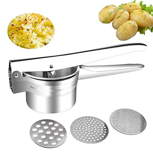 buluship Kartoffelpresse Potato Ricer Stainless Steel with Large Capacity  420ml Made of 304 Stainless Steel Rust-Proof, for Mashed Potatoes, Fruit ...