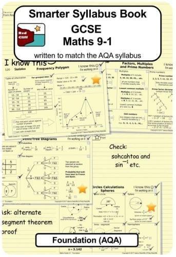 Smarter Syllabus Book - GCSE Maths 9-1 Foundation (AQA): Written to match the AQA Foundation syllabus