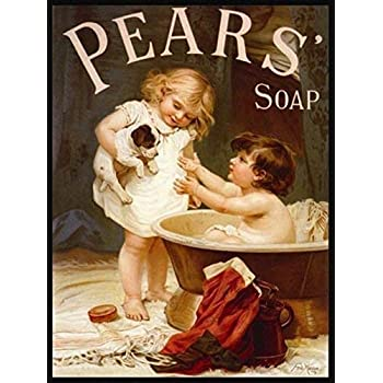 Pears soap impudence metal wall plaque sign brand new