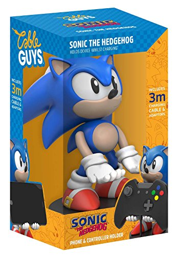 Price comparison product image Collectable Sonic The Hedgehog Cable Guy Device Holder Works with PlayStation and Xbox Controllers and All Smartphones (PS4)
