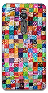 The Racoon Grip printed designer hard back mobile phone case cover for Asus Zenfone 2 ZE551ML. (Colourful)