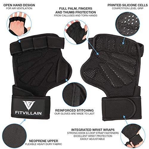 Zoom IMG-2 fitvillain guanti per crossfit palestra