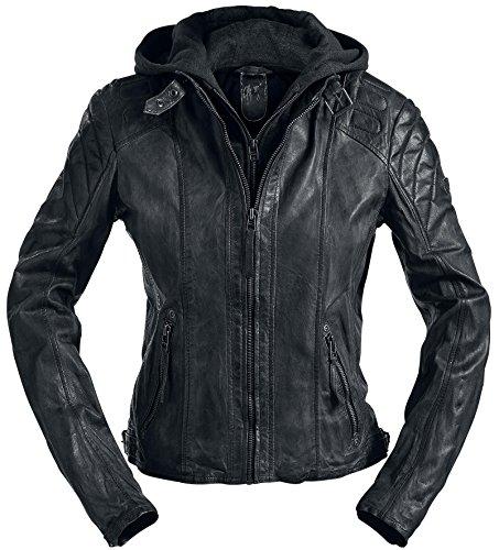 Gipsy Damen Lederjacke Chasey LDDV, Gr. 40 (Herstellergröße: L), Schwarz (black 1)