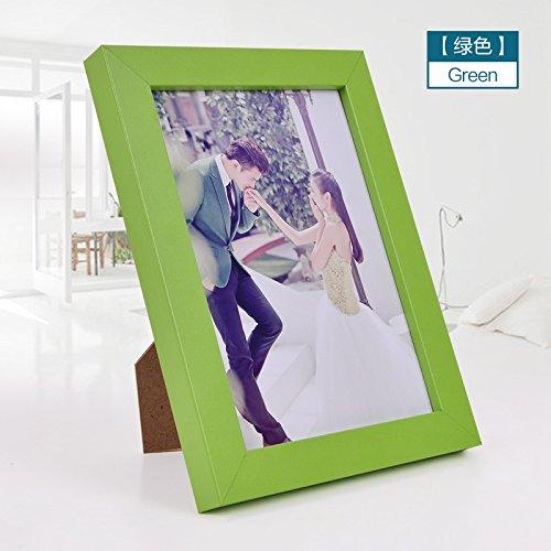 SQZH parete in legno impostare bambini creativi photo frame photo frame 5 pollici 6 pollici da 7 pollici a 8 pollici 10 pollici A4 bianco nero,10 pollici,verde