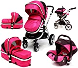 Best Baby Stroller Travel Systems - i-Safe System - Raspberry (Pink) Trio Travel System Review