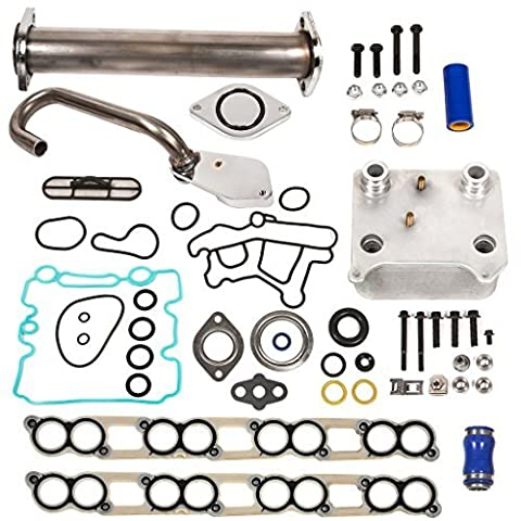 Evergreen EGR-6.0-3 EGR Delete Kit, Oil Cooler, Intake Gasket Kit Ford 6.0 Powerstroke Diesel F250 F350 F450 by Evergreen Parts And Components