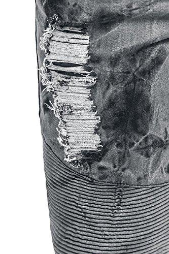 Rock Rebel by EMP Acid Jared (Slim Fit) Jeans grau/schwarz Grau/Schwarz