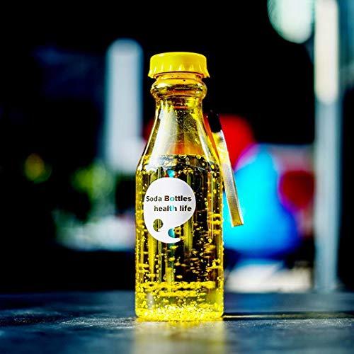 kaimus Botella de Agua práctica a Prueba de Fugas del Viaje de los Deportes al Aire Libre 550ml con la Cuerda de ejecución Teteras