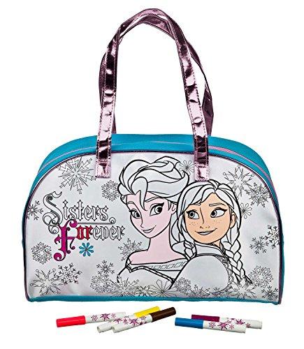 Undercover FRZH7293 Kindergartentasche, Disney Frozen, ca. 21 x 22 x 8 cm Freizeittasche zum Bemalen