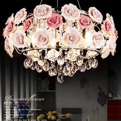 Lilamins Rosa Rosen kristall Kronleuchter Lampe Schlafzimmer modernes, minimalistisches Restaurant Lampen romantisches Wohnzimmer, Rot, Blau und Violett drei Farbe kein Licht im Durchmesser 600