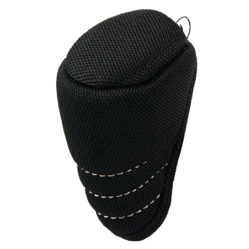 sourcingmap® Protection noire zippée pour levier de vitesses