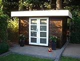 28 mm Gartenhaus Minimodern ca. 300x200 cm (unbehandelt)