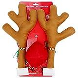 evilandat roudolph bois de renne en peluche avec nez rouge kit accessoire voiture décoration noël