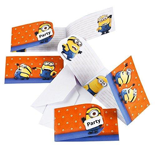Ich Einfach Unverbesserlich 2 - Minions Party Einladungskarten 6 Stk. (Minion Geburtstag Party-einladungen)