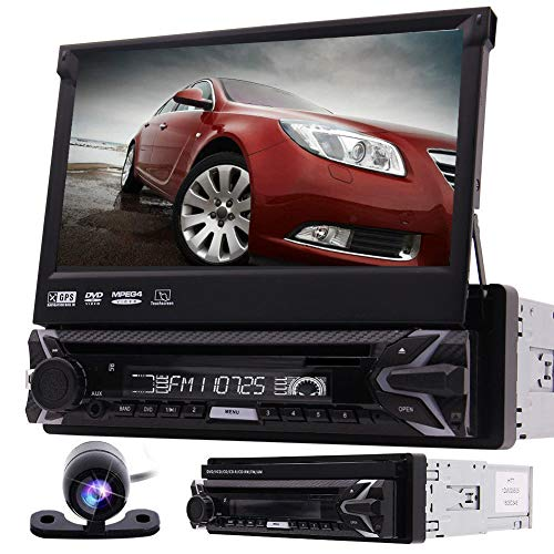 Backup-Kamera inklusive! Car Stereo Radio 1 Din 7-Zoll-HD-Touchscreen im Schlag Head Unit DVD-Spieler Autoradio WinCE6.0-System GPS-Navigationsempf?nger Karten Karte SD / USB FM Transmitter Blueto