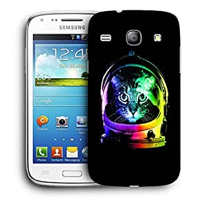 Snoogg Astronaut Cat Designer Protective Back Case Cover For Samsung Galaxy Core