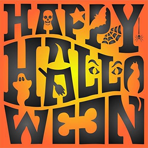 Halloween-Schild Schablone–wiederverwendbar Creepy Urlaub Spooky Schild Wand Schablone–Vorlage, auf Papier Projekte Scrapbook Tagebuch Wände Böden Stoff Möbel Glas Holz etc, ()