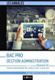 Bac pro Gestion Administration Epreuve E2 : Gestion administrative des relations avec le personnel. 5 sujets officiels et leurs corrigés