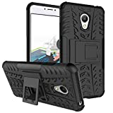 Chevron Meizu M3 Note Back Case- Black(Shock Proof Military Grade Infusion Technology) (Dual Layer With Lifted Lip For Screen Protection)