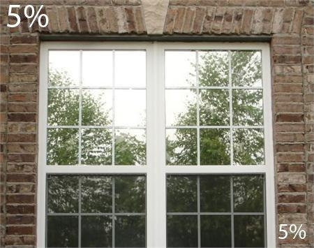 One Way Spiegel Film mit Einschlafen des Vision 5% VLT (61cm breit) Privatsphäre, Hitze abzulehnen, UV-Schutz, Blenden Reduzierung, Solar Fenster Folie, Polyester-Mischgewebe, anthrazit, 24