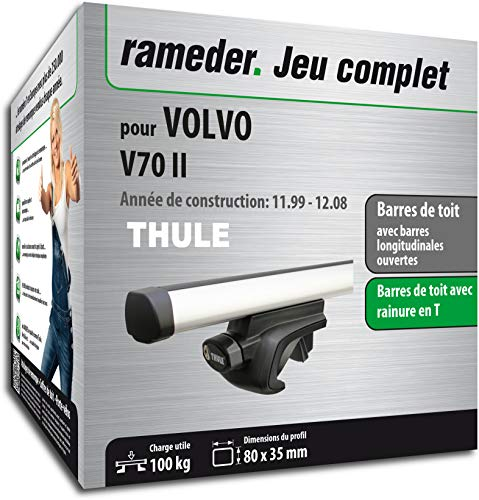 Rameder Pack Barres de Toit ProBar pour Volvo V70 II (115507-04600-35-FR)