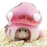 HYGMall 1 Pcs New Hamster Haus Bienen Art Resin Leben Hütte Resin Schlafzimmer Klein Baby Schlaf Produkte Pet Cage Zimmer Pet Mini Hauskatze Hamster Hamster House (Honigwabe)