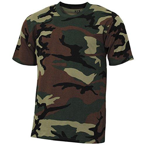 MFH US T-Shirt, Streetstyle, Woodland, 140-145 g/m² - XXXL -