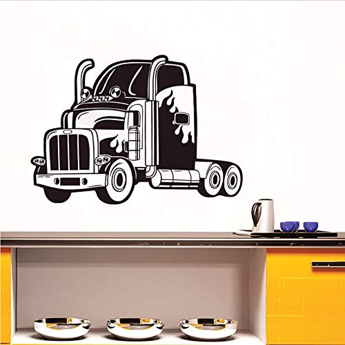 Txyang New Arrival Semi Truck Wall Sticker Vinyl Decal Car Removable Good Quality Wall Decals For Kids Rooms Home Decor 83 * 59.Cm