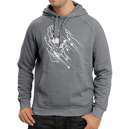 lepni.me N4686H Felpa con Cappuccio Art Skull - Vintage t Shirts (X-Large Grafite Multicolore)