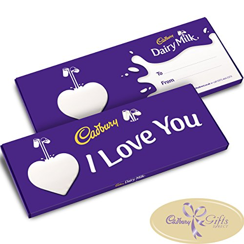 I Love You Dairy Milk 850g Large Bar by Cadbury Gifts Direct