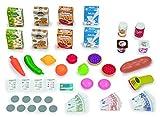 Smoby- Maximarket Supermercado Juguete, Color Rojo, Verde y Azul (350215)